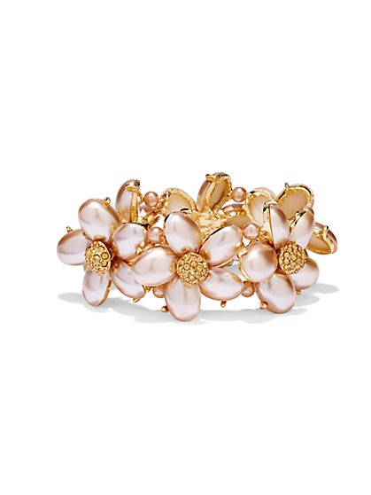 Pearl Floral Stretch Bracelet  - New York & Company