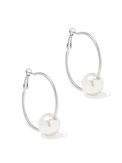 Pearl & Hoop Earring - New York & Company