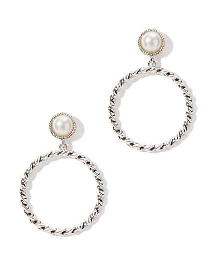 Pearl & Hoop Earring - New York & Company
