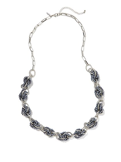 Pearl & Links Necklace - New York & Company