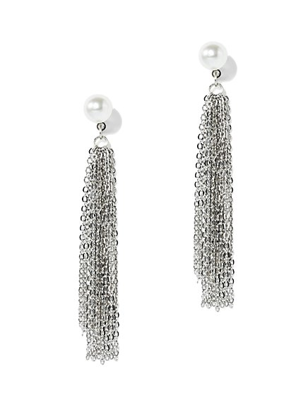 Pearl & Tassel Earring  - New York & Company