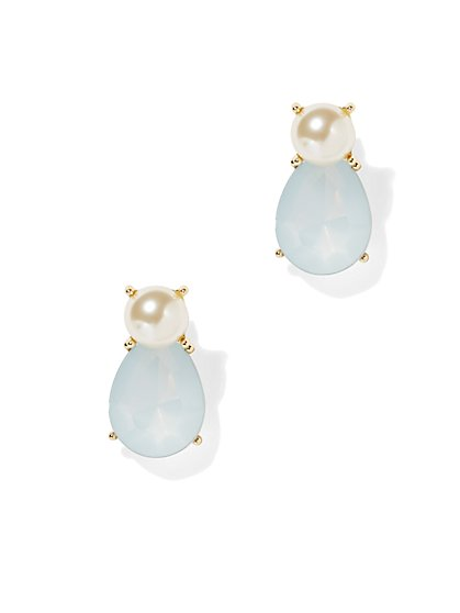 Pearl & Teardrop Earring  - New York & Company