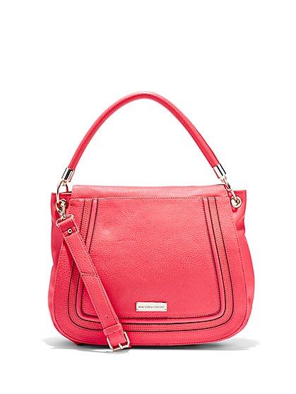 Pebbled Foldover Bag  - New York & Company