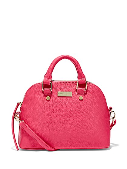 Pebbled Mini Dome Bag  - New York & Company
