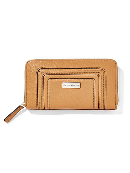 Pebbled Ziparound Wallet  - New York & Company