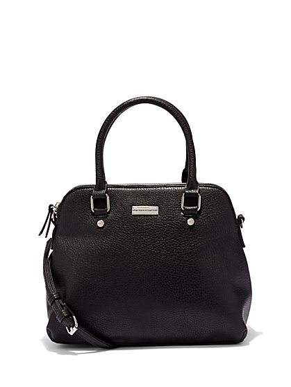 Pebblegrain Bowler Bag  - New York & Company