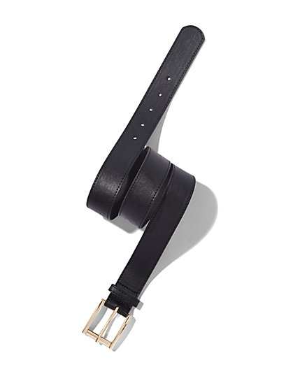 Pebblegrain Faux-Leather Belt  - New York & Company
