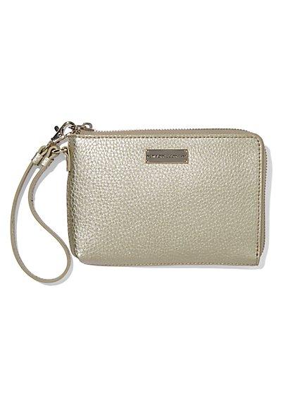 Pebblegrain Zip-Around Wallet  - New York & Company
