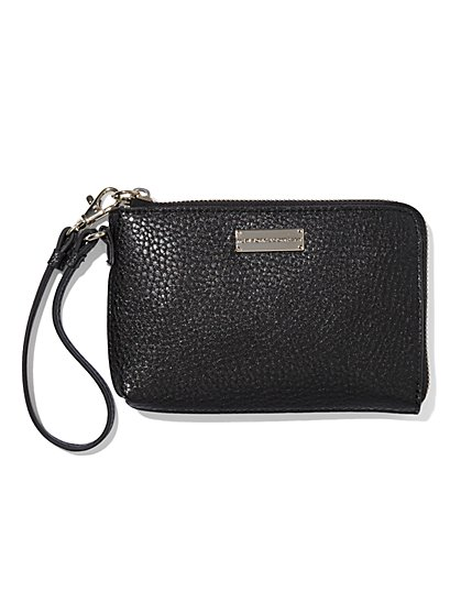 Pebblegrain Zip-Around Wallet  - New York & Company