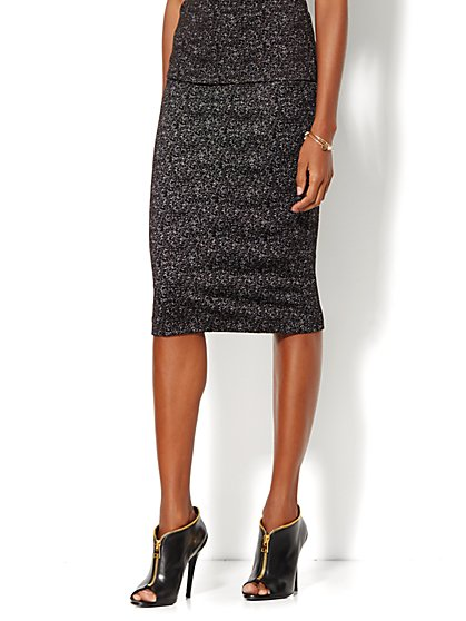 Pencil Skirt - Black Speckle  - New York & Company