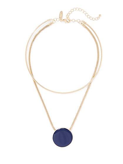 Pendant Circle Necklace  - New York & Company