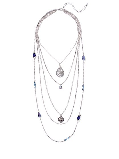 Pendant Five-Row Necklace  - New York & Company