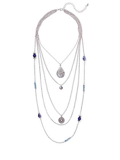Pendant Five-Row Necklace  - New York & Company