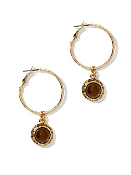 Pendant Hoop Earring - New York & Company