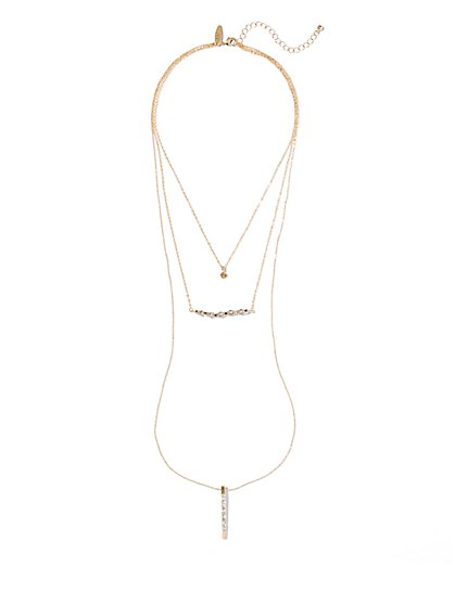 Pendant Three-Row Necklace  - New York & Company