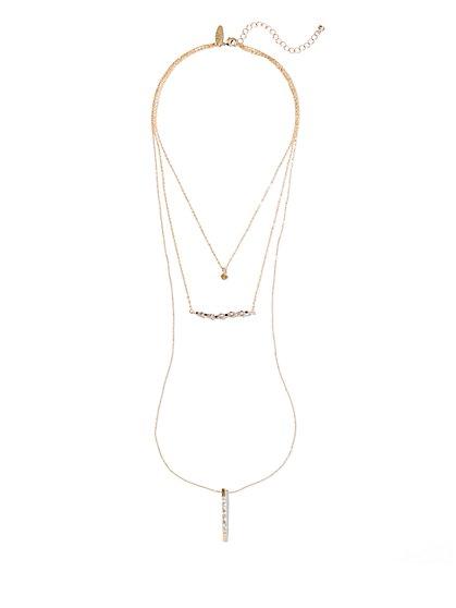 Pendant Three-Row Necklace  - New York & Company
