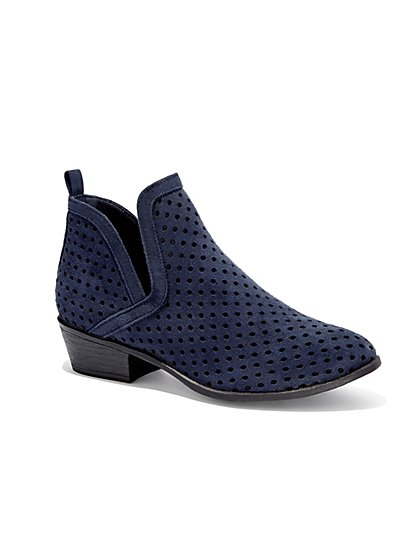 Perforated Ankle Boot  - New York & Company