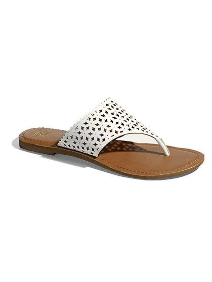 Perforated Slide Sandal  - New York & Company