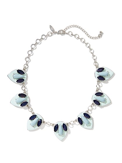 Petal Cabochons Beaded Necklace - New York & Company
