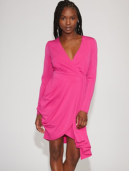 Pink Draped Sheath Dress - Gabrielle Union Collection - New York & Company