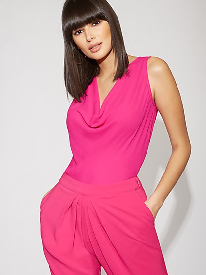 Pink Draped Top - Gabrielle Union Collection - New York & Company