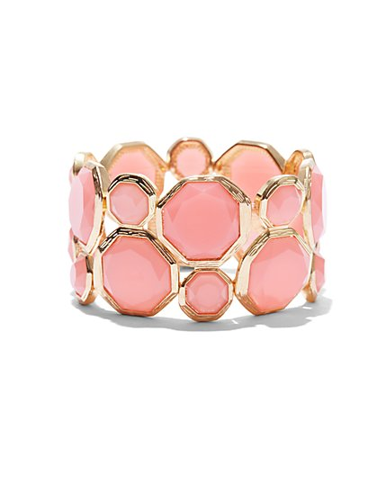 Pink Faceted Faux-Stone Bracelet  - New York & Company