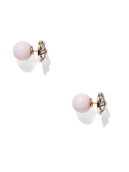 Pink Front/Back Post Earring  - New York & Company