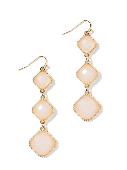 Pink Geo Drop Earrings - New York & Company