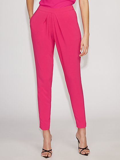 Pink Pleated Pant - Gabrielle Union Collection - New York & Company