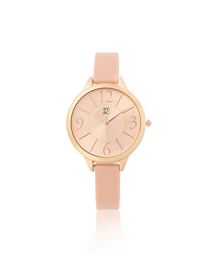 Pink Rubber Strap Watch  - New York & Company