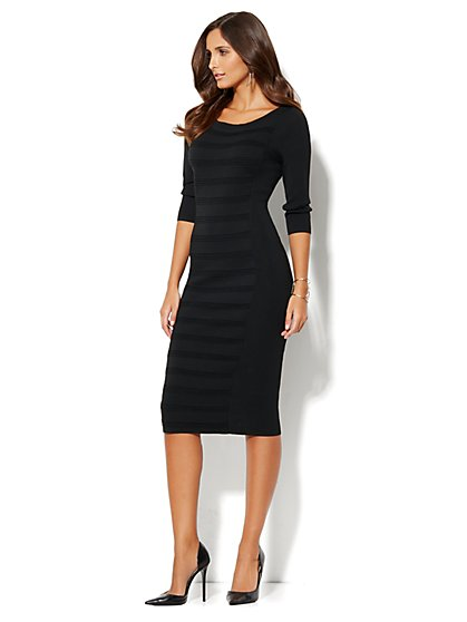 Pintuck Midi Sheath Dress - New York & Company