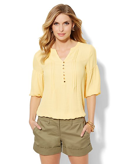 Pintuck Peasant Blouse  - New York & Company