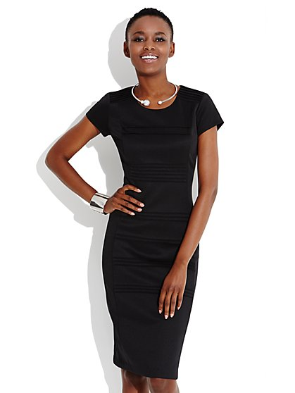 Pintuck Sheath Dress - New York & Company
