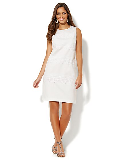 Piqué Shift Dress - New York & Company