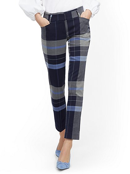 Plaid Ankle Pant - Modern - 7th Avenue - New York & Company