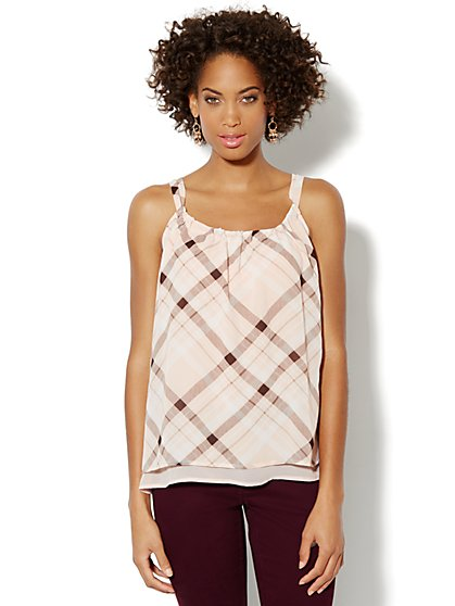 Plaid Camisole Top  - New York & Company