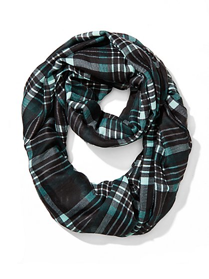 Plaid Infinity Scarf  - New York & Company