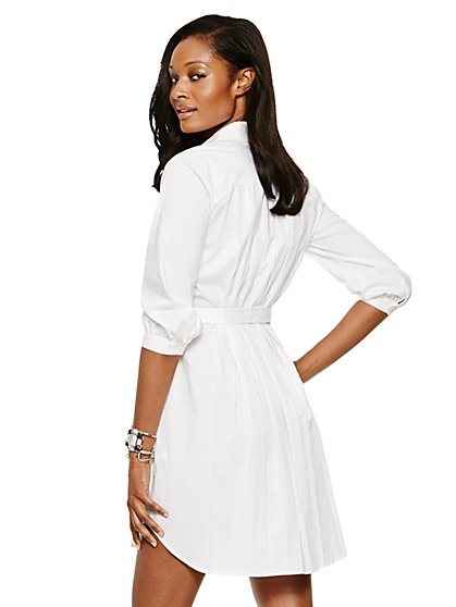 Pleat-Back Shirtdress