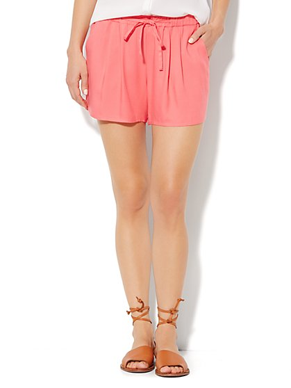 Pleated Drawstring Short - New York & Company