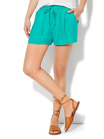 Pleated Drawstring Short