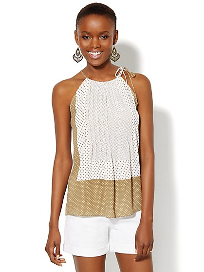 Pleated Halter Top  - New York & Company