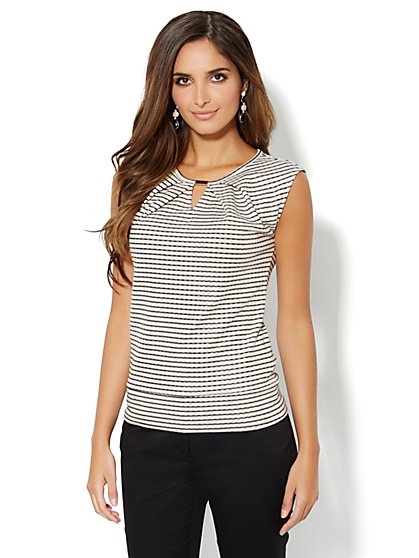 Pleated Hardware Top - Striped