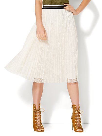 Pleated Lace Skirt  - New York & Company