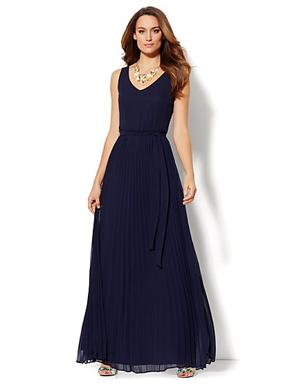 Pleated Maxi Dress  - New York & Company