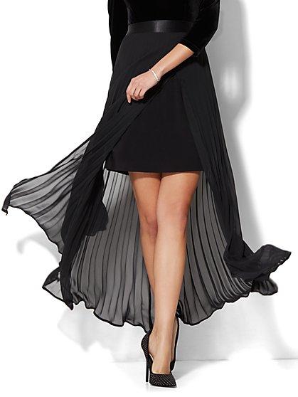 Pleated Overlay Maxi Skirt - New York & Company