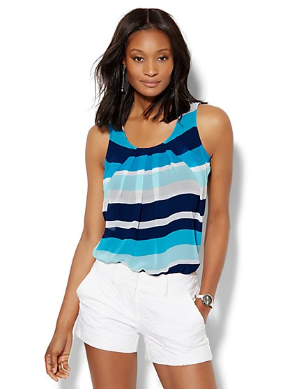 Pleated Shell - Stripe  - New York & Company