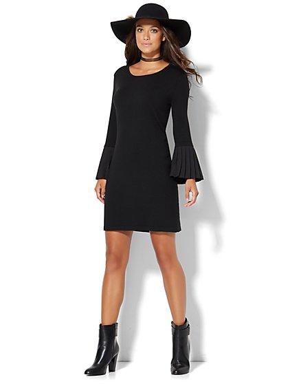 Pleated-Sleeve Sweater Dress  - New York & Company