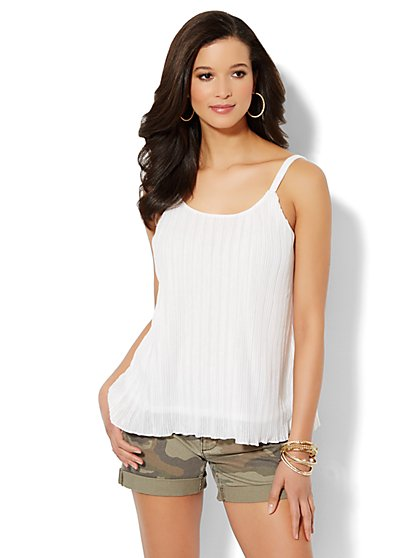 Pleated Tank Top - New York & Company