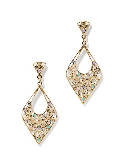 Pointed Filigree Drop Earring  - New York & Company