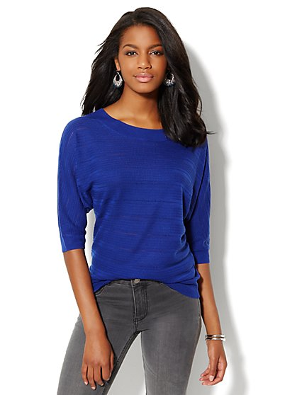 Pointelle Scoopneck Sweater - New York & Company